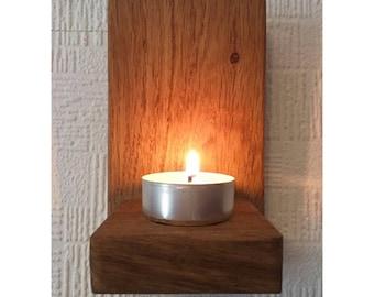 Oak Tealight Sconce Shelf