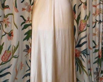 Stunning Peach Silk Satin Nightgown