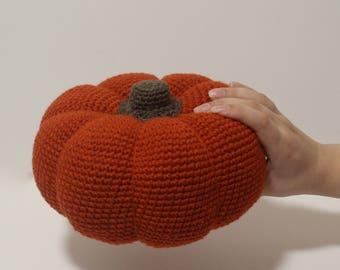 Fall decor, Large pumpkin, crochet pumpkin, thanksgiving decorations, autumn decor, thanksgiving table decor, fall pumpkin, fall