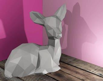 FAWN paper DIY / / crafting / / Papercraft / / decor / / Sculpture / / DIY / / gift / / Origami / / Puzzle