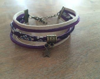 Bracelet liberty purple/beige tone