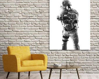SWAT Black & white, Police officer gifts, wall art, Law enforcement, swat team, office decor, home decor, Printable photo, Digital download