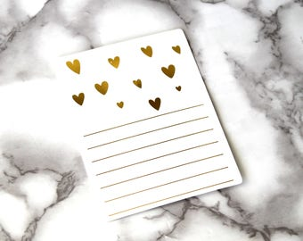 Hearts And Lines Gold Foil Blank Card, Boho Theme Postcard, Birthday Card, Wedding Gifts, Sweet 16 Birthday, Back To School Gifts, Office
