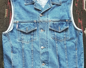 Bum Equipment Vintage 90's Denim Vest Large