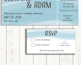 Unique Wedding, Wedding Invitation, Modern Wedding
