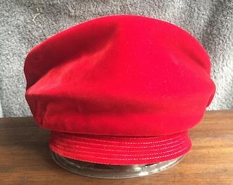 Vintage Red Velvet Ladies Hat