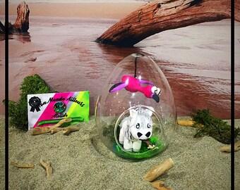Egg-Shaped Bell - Camargue Horse And Flamingo