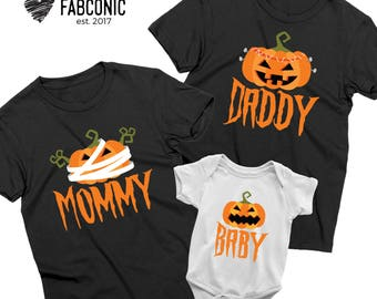 Halloween family shirts, Pumpkin Mommy Daddy Baby shirts, Pumpkin Shirt, Halloween pumpkin shirt, Family pumpkin shirts