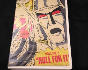 Transformers VHS- Volume 6 - Roll for it.  Vintage. 1984