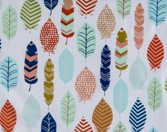 Feather Fabric, Fabric by the Yard, Fabric by the Yard, Feather Print Fabric,100% Cotton Fabric, Feather Material, Quilting Fabric, Fabric