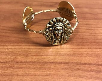 Indian Head Wire Bracelet