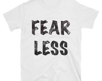 Fear Less cotton distressed Spartees Short-Sleeve Unisex T-Shirt