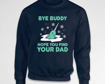 Funny Christmas Gifts Holiday Present Buddy The Elf Sweater Xmas Pullover Holiday Clothing Christmas Movie Jumper Hoodie Sweatshirt TEP-414