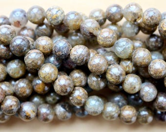 8mm Silverstone Jasper beads, full strand, natural stone beads, round, 80125