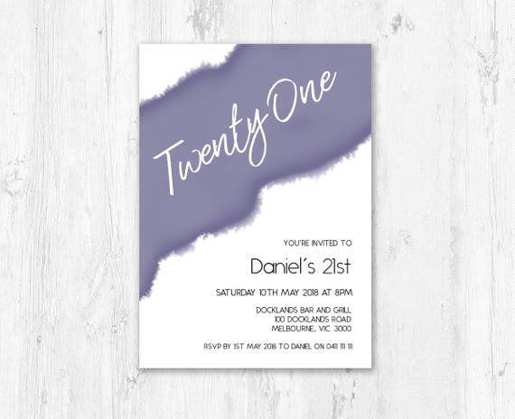 21st birthday invitations for male printable 18th birthday like this item filmwisefo Choice Image