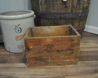 Vintage Remington Wood Crate