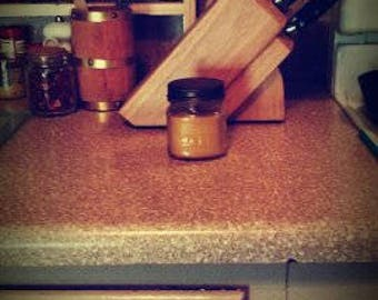 Pure Beeswax Candle wooden wick in Mason Jar Small 4oz