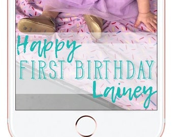 Birthday Party Snapchat Geofilter #4