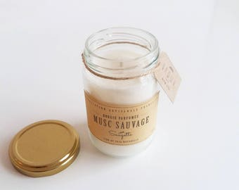 Wild musk - scented handcrafted soy wax