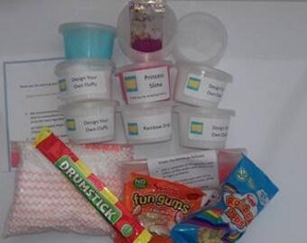 Design your Own Slime Kit - Medium - Slime Kit / UK Slime Kit / Classic Slime / Fluffy Slime / Glitter Slime / Medium slime kit