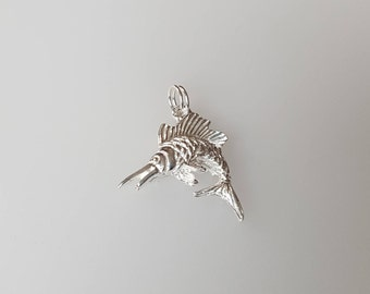 Swordfish Charm Pendant in .925 Sterling Silver