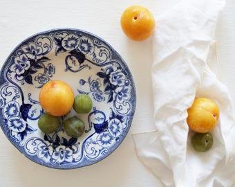 Vintage soup bowl from Creil et Montereau – Flora.