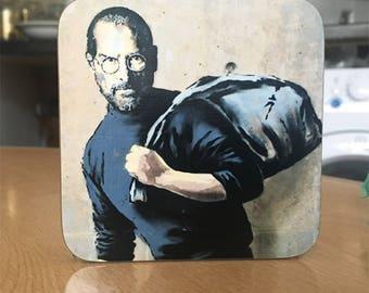 Banksy Coaster #24 - Banksy Gift - Banksy Coaster - Custom Coaster -Gift for Her - Gift For Him - Fridge Magnets - Banksy Magnet - Souvenir