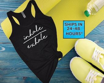 Namaste tank top shirt | yoga tank top shirt | cute yoga shirt | trendy yoga shirt | Inhale Exhale | yoga workout shirt (19)
