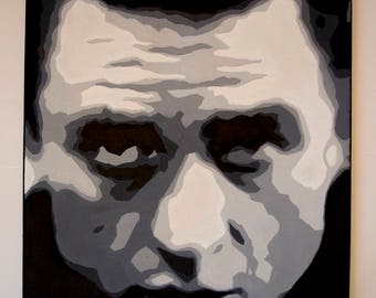 JOHNNY CASH : Oil painting