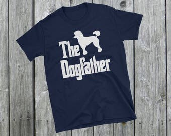 The Dogfather t-shirt, Poodle silhouette, funny dog gift, The Godfather parody, dog lover shirt, dog gift, Short-Sleeve Unisex T-Shirt