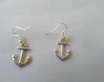 Navy anchor earrings