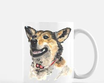 Painted German Shepherd Mug
