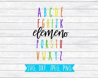 Alphabet Clipart, Alphabet Svg, Teaching Svg, Teacher Svg, SVG, DXF, PNG, Teacher Shirt, Teacher life, Kindergarten, Cut files, Teach svg