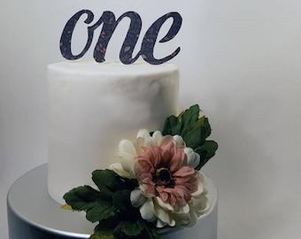 """Handmade """"One"""" Cake Topper"""