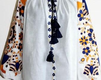 Boho Ukrainian Embroidery Vyshyvanka Blouse Embroidered Clothes Bohemian Blouses Custom Embroidery Ethnic Style Fashion Ukraine Bohochic