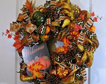 Fall Wreath, Beautiful Fall Wreath, Winter Wreath