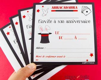 Magic birthday invitations