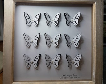 Butterfly collage frame