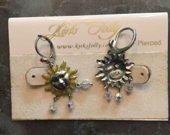 "Kirks Folly Rare  ""Sun Dance "" Earrings  Madein USA NEW (OTHER)"