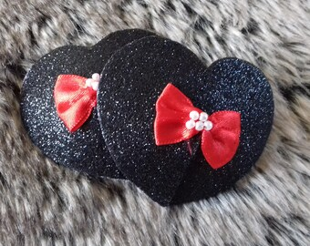 Glitter and bow nipple pasties