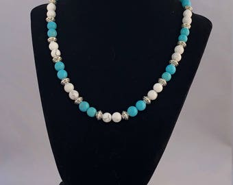 Howlite and Turquoise Necklace/Bracelet