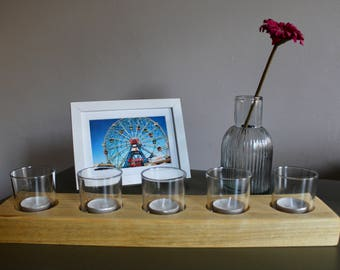 Tea Light Holder inc Glasses and Tea Lights