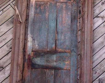 1830s Greek Revival Prairie Farm House Door and Frame.