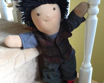 Waldorf doll, Boy Doll, Handmade Doll, Steiner doll, Ragdoll, 16 inch doll