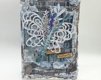 Just like the butterfly... - Handmade card, greetingcard, card, handmadegift,blue card