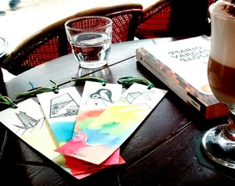 Decorated handmade bookmarks