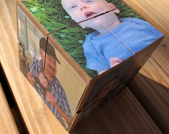 Personalized Photo and Name Puzzle Blocks