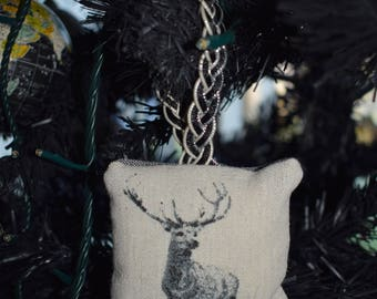 Stag Handmade Sewn Friendship Gift Christmas Stocking Filler Secret Santa Cushion Decoration Tree