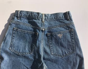 Vintage Guess High Waisted Denim Jeans 27 27.5