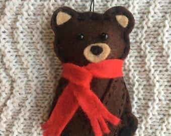 Borris the Bear (Felt Ornament)